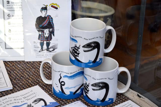 Nessie Mugs at Museum Context, Edinburgh | www.rachelphipps.com @rachelphipps