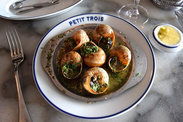 Garlic Snails at Petit Trois, Hollywood