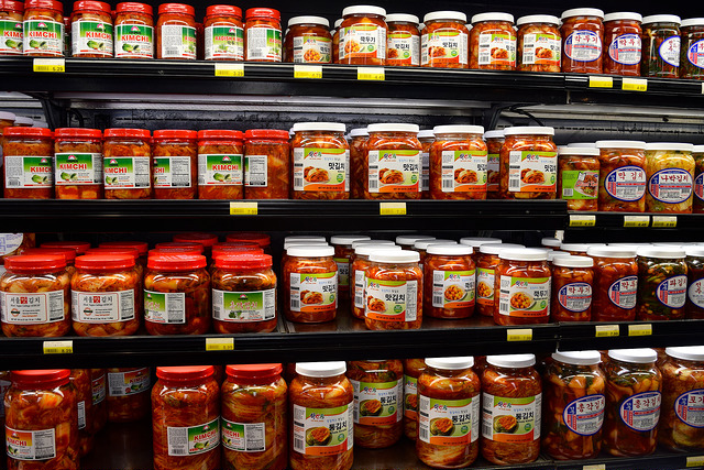 Kimchee at the Koreatown Plaza, Los Angeles | www.rachelphipps.com @rachelphipps