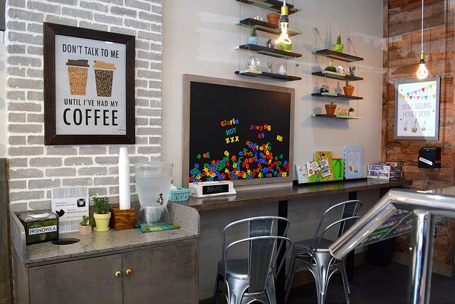 Coffee Counter at Snow L.A., Los Angeles | www.rachelphipps.com @rachelphipps