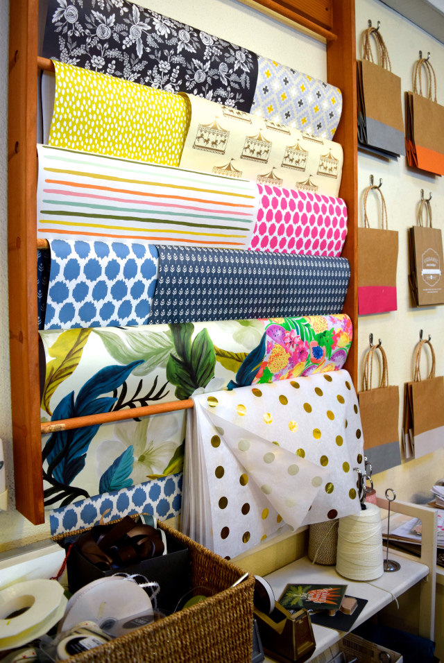 Wrapping Paper at Urbanic Paper Boutique, Los Angeles | www.rachelphipps.com @rachelphipps
