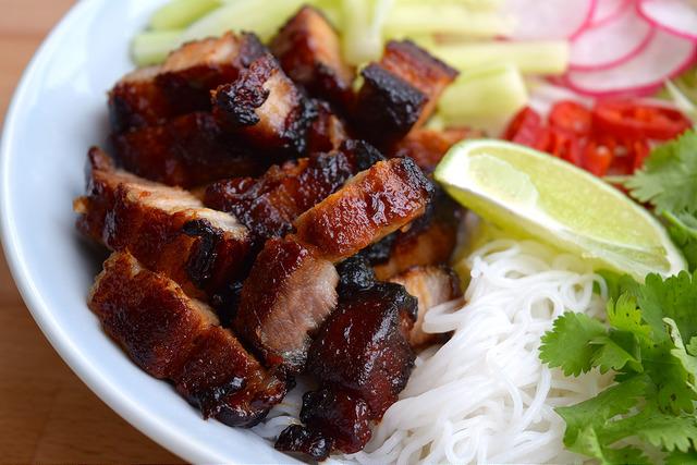 Korean Barbecue Pork Belly Bun Bowl   www.rachelphipps.com @rachelphipps
