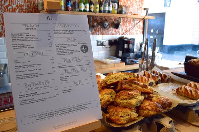 Baked Goods Counter at Pop Up Cafe, Deal   www.rachelphipps.com @rachelphipps