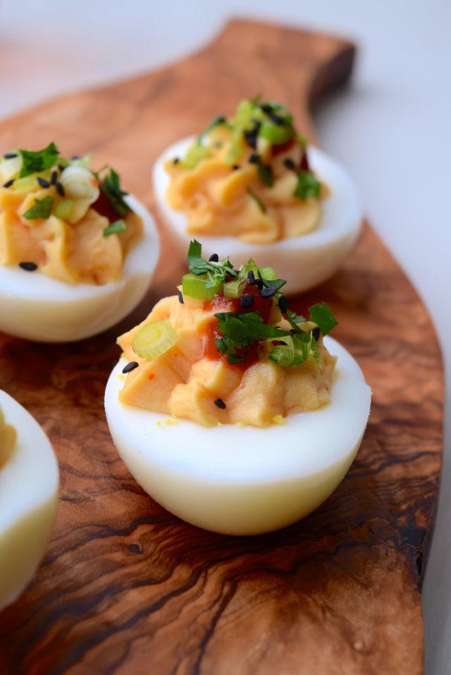 How To Make Asian Devilled Eggs   www.rachelphipps.com @rachelphipps