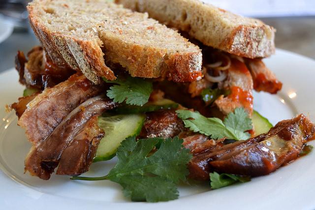 Pork Belly Hoisin Sandwich at Pop Up Cafe, Deal   www.rachelphipps.com @rachelphipps