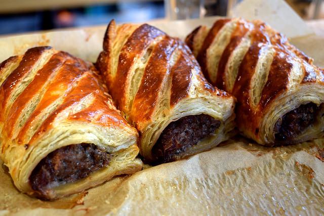 Homemade Sausage Rolls at Pop Up Cafe, Deal   www.rachelphipps.com @rachelphipps