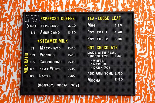 Coffee Menu at Pop Up Cafe, Deal   www.rachelphipps.com @rachelphipps