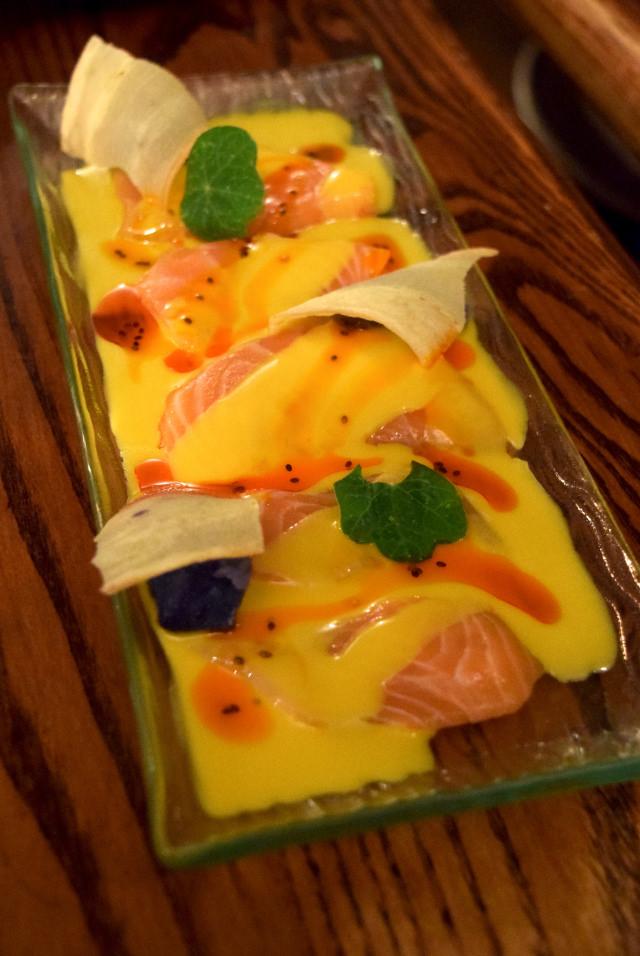 Salmon Ceviche at Ceviche, Soho   www.rachelphipps.com @rachelphipps