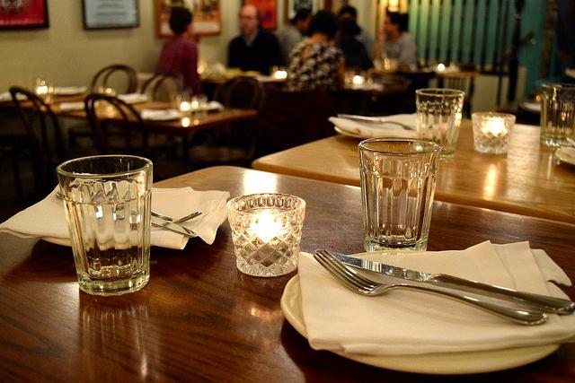 Tables at Ceviche, Soho   www.rachelphipps.com @rachelphipps