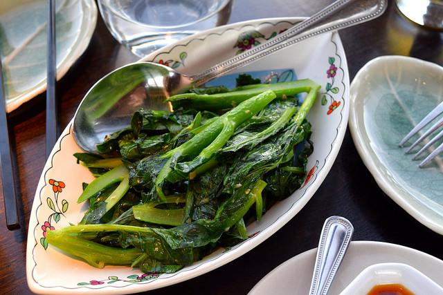 Wok Fried Seasonal Vegetables witgh Garlic at Hutong, The Shard | www.rachelphipps.com @rachelphipps