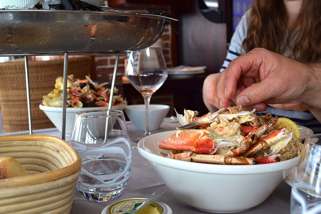 Enjoying a Fruits de Mer in Cancale, Brittany | www.rachelphipps.com @rachelphipps