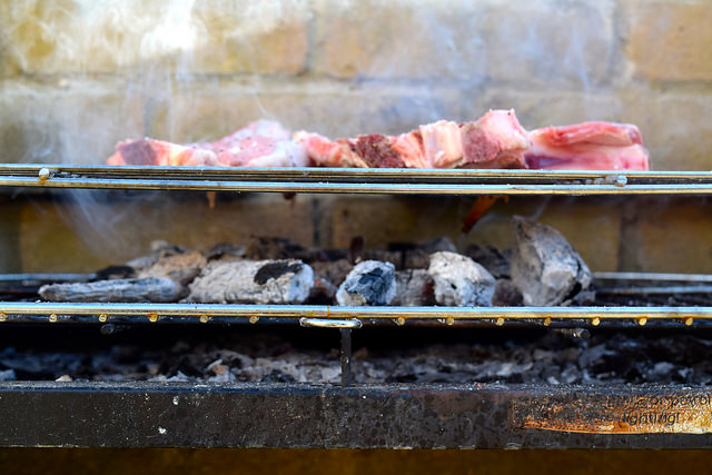 Barbecuing Veal Chops in Brittany, France   www.rachelphipps.com @rachelphipps