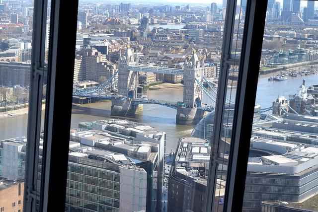 Tower Bridge from The Shard | www.rachelphipps.com @rachelphipps