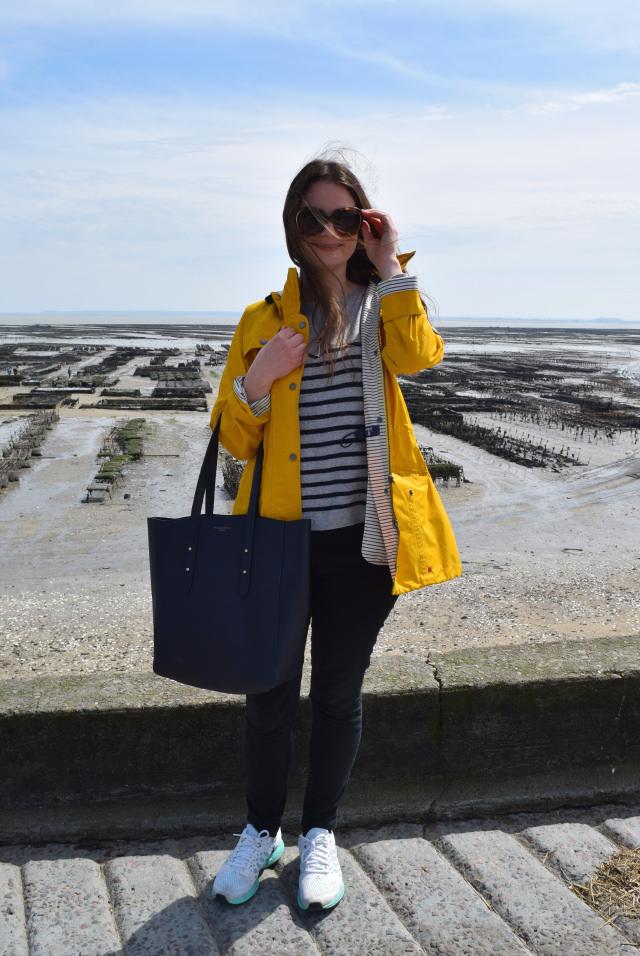 Barbour Yellow Seafarer Raincoat in Cancale, Brittany | www.rachelphipps.com @rachelphipps