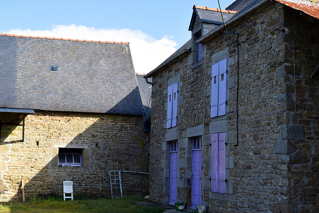 Purple Painted Brittany Stone House, France   www.rachelphipps.com @rachelphipps