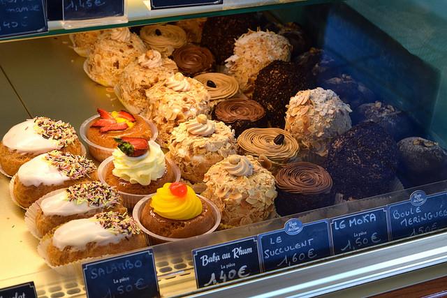 French Pastries in Combourg, Brittany | www.rachelphipps.com @rachelphipps