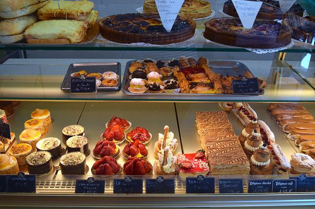 Mini French Pastries in Combourg, Brittany | www.rachelphipps.com @rachelphipps