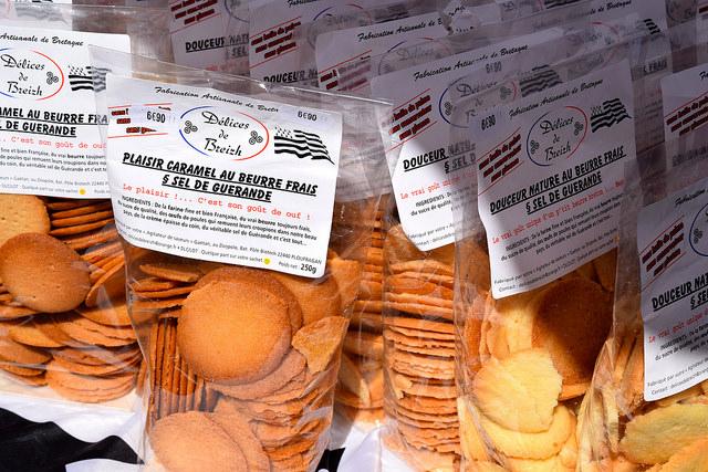 Breton Butter Biscuits at Combourg Market, Brittany | www.rachelphipps.com @rachelphipps