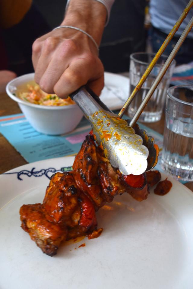 Chicken Skewers at Cabana, Covent Garden   www.rachelphipps.com @rachelphipps