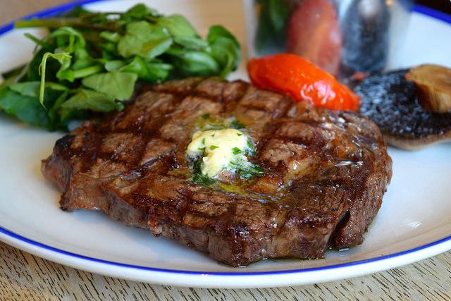 Rib Eye Steak at The Duke William, Ickham | www.rachelphipps.com @rachelphipps