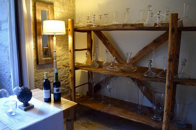 Decanters at Manoir de Malagorse | www.rachelphipps.com @rachelphipps