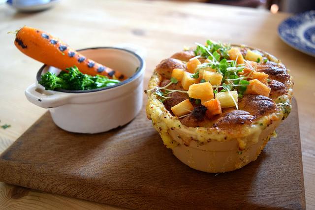 Fish Pie & Spring Veg at The Duck Inn, Pett Bottom   www.rachelphipps.com @rachelphipps