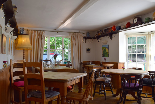 Dining Room at Ricotta & Parmesan Gnocchi at The Duck Inn, Pett Bottom   www.rachelphipps.com @rachelphipps