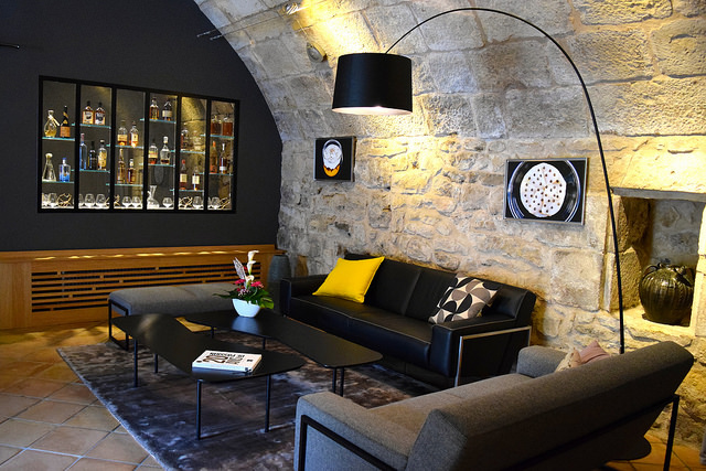 Drinks Lounge at Hostellerie de L'Imaginaire | www.rachelphipps.com @rachelphipps