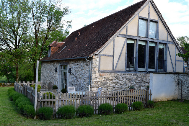 Gite Terrace at Manoir de Malagorse | www.rachelphipps.com @rachelphipps