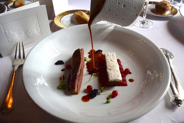 Duck with Nougat and Seasonal Fruits at Chateau de la Treyne | www.rachelphipps.com @rachelphipps