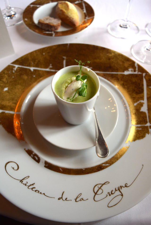 Pea Veloute at Chateau de la Treyne | www.rachelphipps.com @rachelphipps