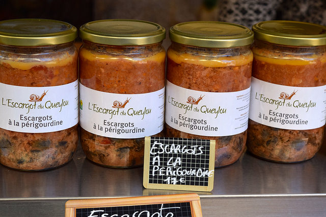 Jarred Escargot at Sarlat Market | www.rachelphipps.com @rachelphipps