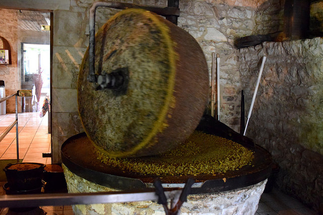 Grinding Walnuts in the Dordogne Valley | www.rachelphipps.com @rachelphipps