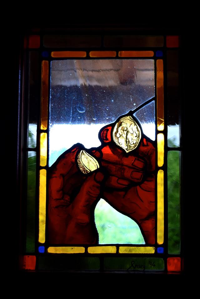 Walnut Stained Glass Window in the Dordogne Valley | www.rachelphipps.com @rachelphipps