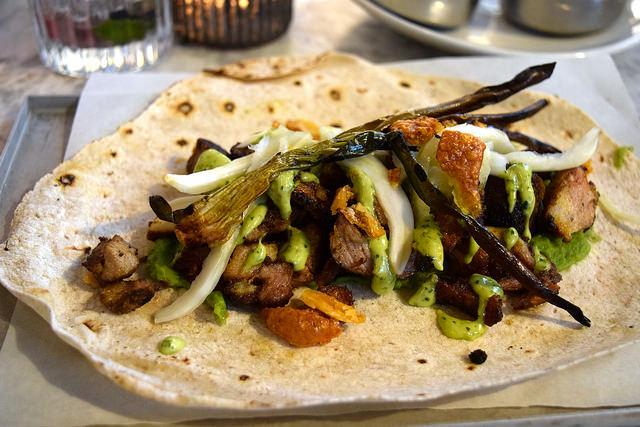 Pork Shawarma at Le Bab, Soho   www.rachelphipps.com @rachelphipps