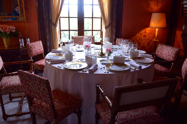 Dining Room Table at Chateau de la Treyne | www.rachelphipps.com @rachelphipps
