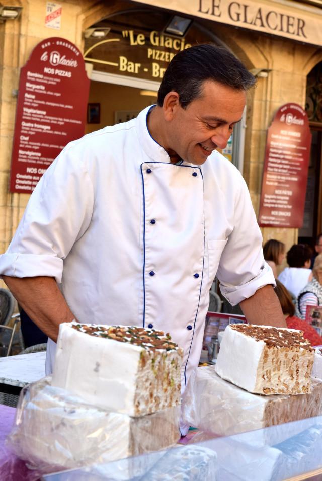 Nougat Chef at Sarlat Market | www.rachelphipps.com @rachelphipps