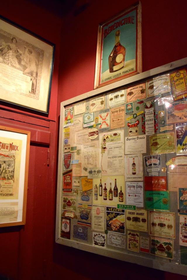 Vintage Labels at the Denoix Distillery, Brive | www.rachelphipps.com @rachelphipps