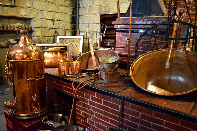 Copper Equipment at the Denoix Distillery, Brive | www.rachelphipps.com @rachelphipps