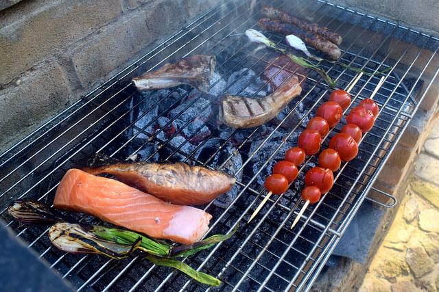 July Evening Barbecue in Brittany   www.rachelphipps.com @rachelphipps