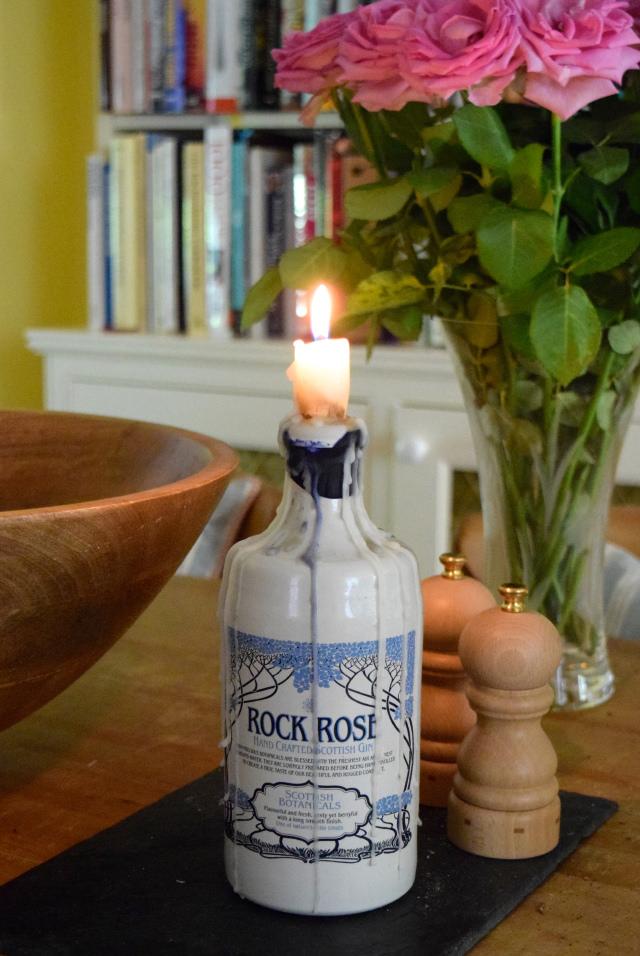 Rock and Rose Gin Candlestick | www.rachelphipps.com @rachelphipps