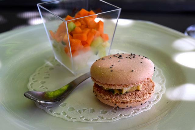 Amuse Bouche at Hotel Restaurant du Chateau, Combourg   www.rachelphipps.com @rachelphipps