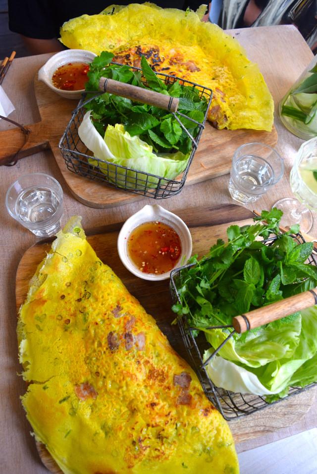 Banh Xeo Crispy Pork & Prawn Pancakes at Little Viet Kitchen, Islington | www.rachelphipps.com @rachelphipps