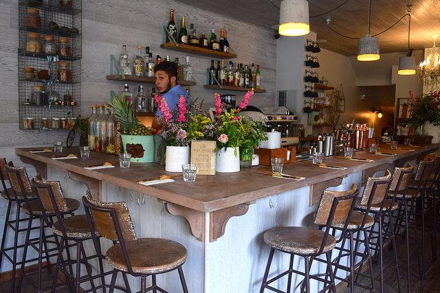 Interior of  at Little Viet Kitchen, Islington | www.rachelphipps.com @rachelphipps