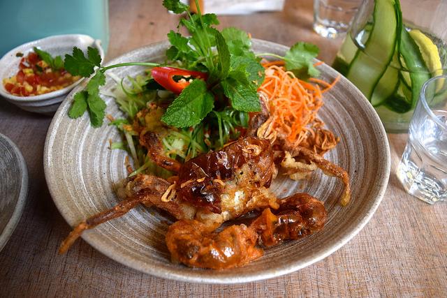 Soft Shell Tempura Crab at Little Viet Kitchen, Islington | www.rachelphipps.com @rachelphipps