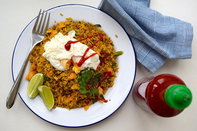 Easy Skinny Coconut Kedgeree from Chef on a Diet | www.rachelphipps.com @rachelphipps