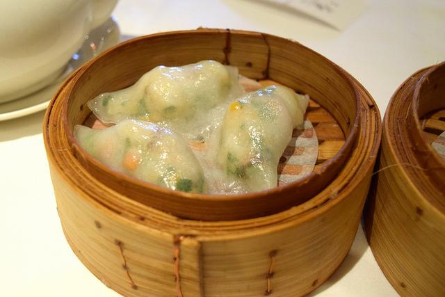 Prawn & Coriander Dumplings at Royal China, Baker Street | www.rachelphipps.com @rachelphipps