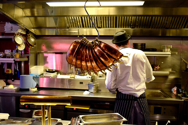 Open Kitchen at The Palomar, Soho | www.rachelphipps.com @rachelphipps