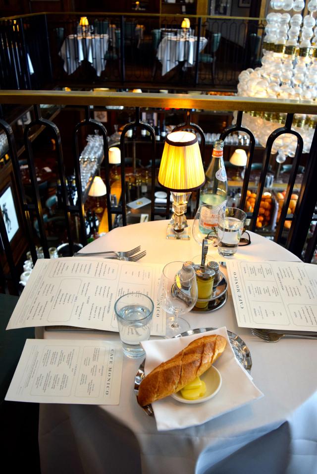Table for two at Cafe Monico, Soho   www.rachelphipps.com @rachelphipps