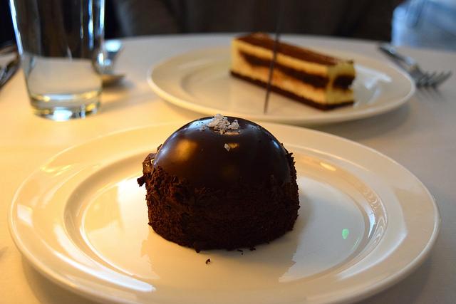 Salted Caramel Chocolate Bombe at Cafe Monico, Soho   www.rachelphipps.com @rachelphipps